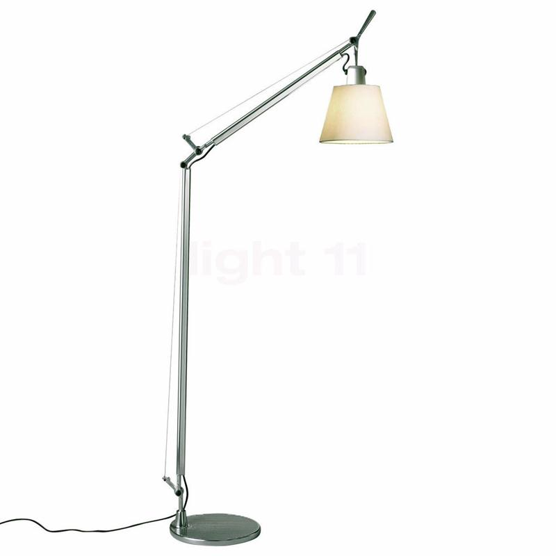 artemide tolomeo lettura basculante diffusore pergamena lampada da terra ebay. Black Bedroom Furniture Sets. Home Design Ideas