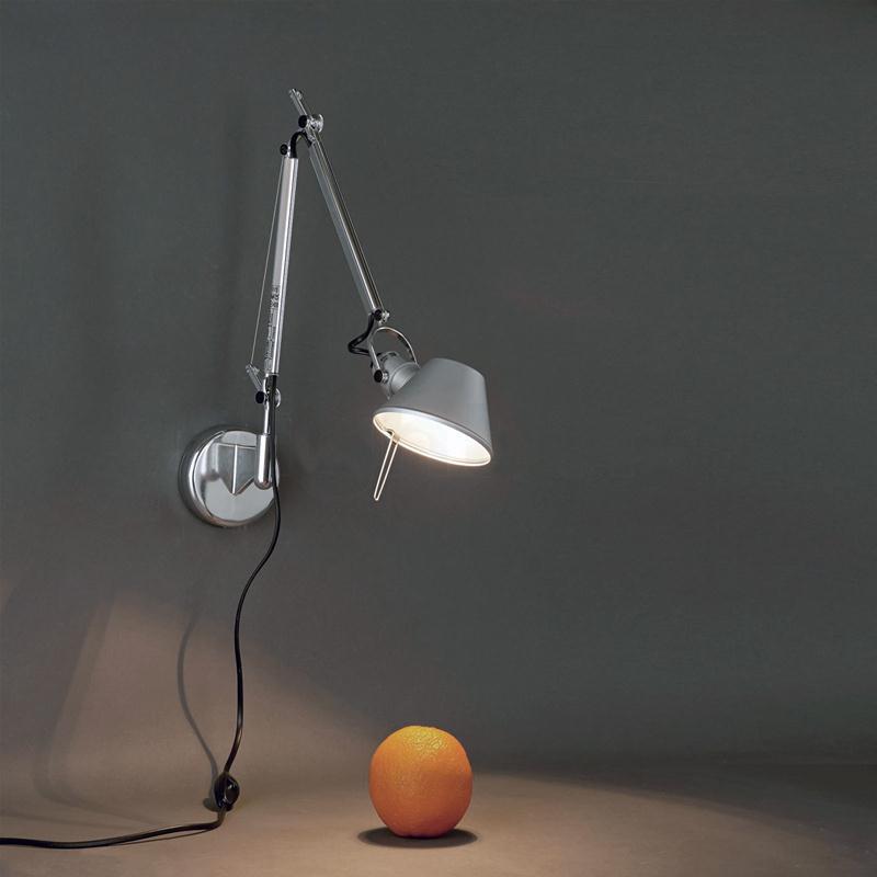artemide tolomeo micro parete alluminio lampada da parete ebay. Black Bedroom Furniture Sets. Home Design Ideas