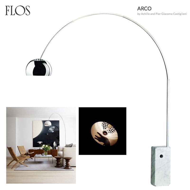 Flos - ARCO - Achille and Pier Giacomo Castiglioni - Lampada da ...