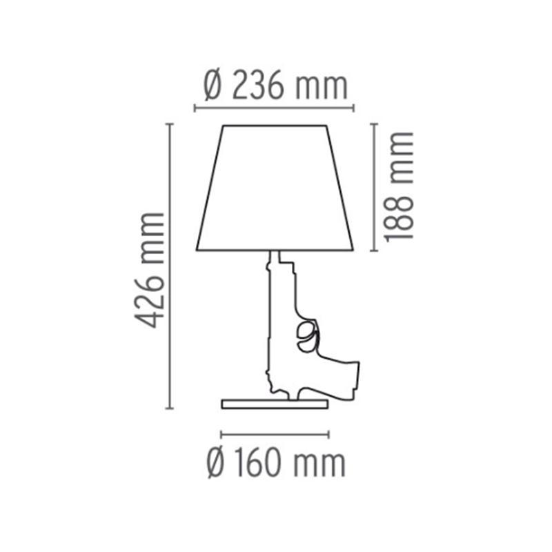 Flos Guns Bedside Gun Philippe Starck Lampada Da Tavolo Ebay
