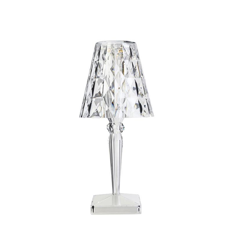 Kartell Big Battery Colore Cristallo Ricarica Usb Lampada Da Tavolo Ebay