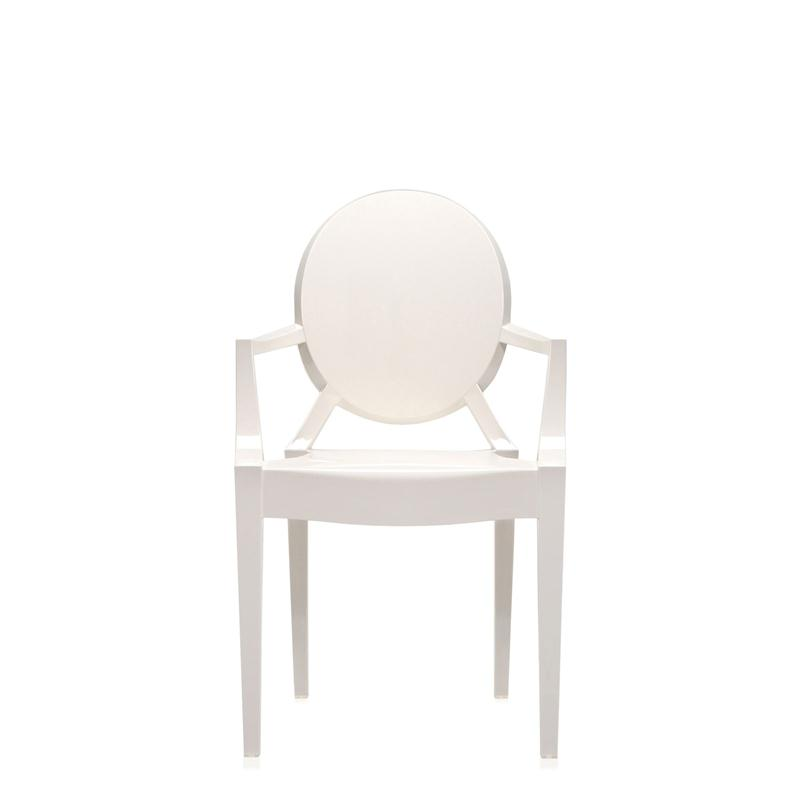 Details about Kartell - SEDIA LOUIS GHOST - BIANCO LUCIDO